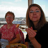 Phyllis and Marilyn having lunch overlooking the Terminal
