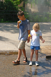 Paul and Maggie share an apple while cooling off - 2