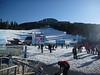 Base ski area still not busy.