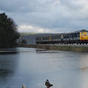 8069 is seen crossing the causeway at Magheramorne with the 1057 Larne Hbr/Belfast Central 011210