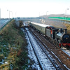 GSWR 186 works her Santa Steam special from Belfast Central to Whitehead RPSI seen passing Barn, Carrickfergus 041210