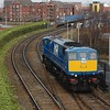 113 approaches Belfast Central running L.E. from York Road to Adelaide Depot to shunt wagons. Tues 15.02.10