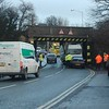 Services were disrupted at Carrickfergus due to a lorry striking a bridge on the North Road. Mon 18.01.10