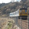 8093 + 8089 approach Whitehead with the 1342 Belfast Central / Larne Harbour. Mon 01.03.10