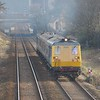 8089 + 8093 approach The Barn with the 0957 Larne Harbour / Belfast Central. Tues 02.03.10