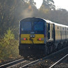 In typical Autumn weather the leaves scatter as 206 passes Derriaghy with the 1410 Belfast / Dublin 071110