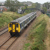 453 works the 0857 Larne Harbour / Belfast Central pictured at Taylors Avenue, Carrickfergus 060910