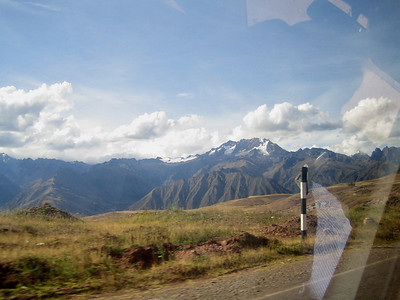 On the road from Cuzco to Urumbamba (Sacred Valley)