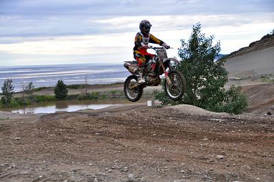 August 1, 2010 - A biker makes a jump at the Kincaid Motocross Park in Anchorage, Alaska.