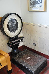 June 18, 2010 - Old scale in the Anchorage Alaska Railroad depot.