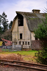 January 19, 2010 - Old Barn Next to the Railroad Tracks