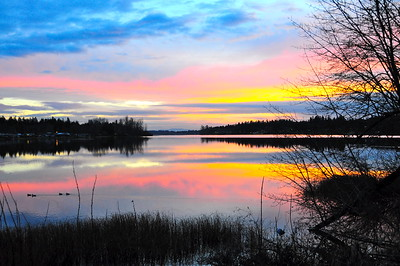 January 6, 2010 - Black Lake sunset