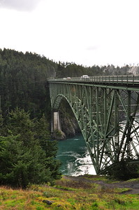 The Deception Pass Bridge that connects Fidalgo Island with Whidbey Island.