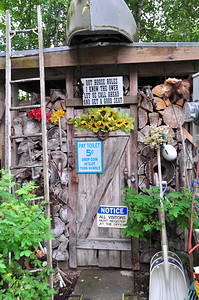 July 23, 2010 - Funny outside at Wal*Mike's in Trapper Creek, Alaska.
