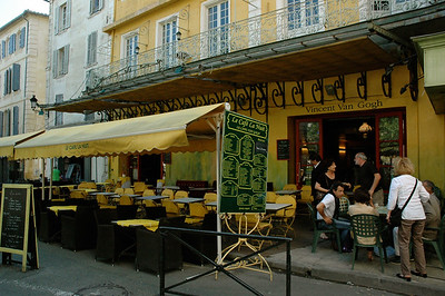 A cafe once frequented by Vincent van Gogh. Arles, Provence, France.
