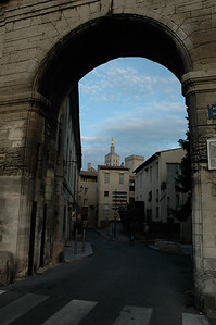 The walls still surround the old city. Avignon, Provence, France.