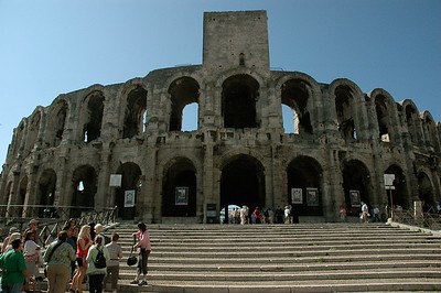 A 2,000-year-old Roman amphitheatre. Arles, Provence, France.