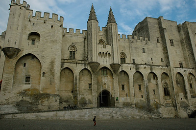 Le Palais des Papes, once the home for popes. Avignon, Provence, France.