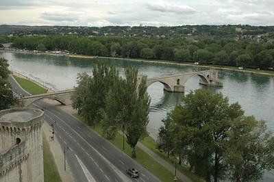 Avignon, Famous for the Pont d'Avignon, on the Rhone river.