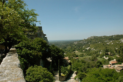 Les Baux, a tiny village clinging to top of a rock. Provence, France