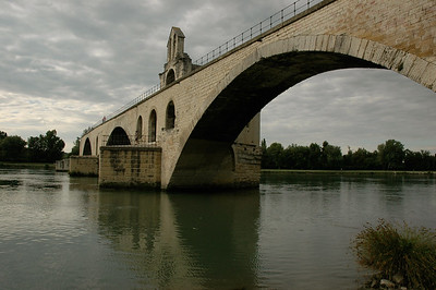 Strategically important in its time, then in song: Pont d'Avignon, Provence, France.