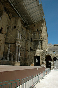A 2,000 year old Roman theater, the largest Roman theater in Europe.  Theatre Antique, Orange, Provence, France.