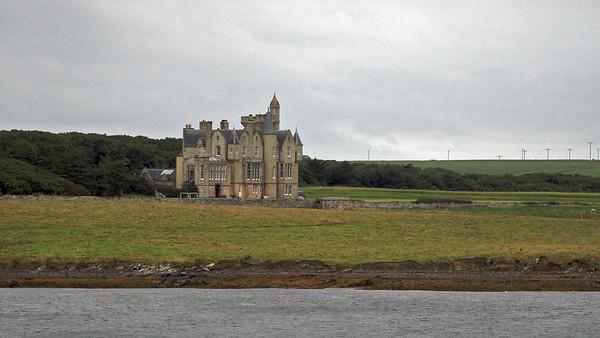 Leaving Orkney Isles, Balfour Castle