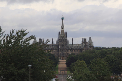 Fettes College, a prep school in Edinburgh, supposedly used as a model for the Hogwart's school in Harry Potter stories.