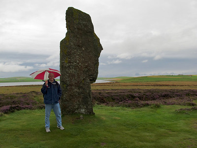 Chris at Ring of Brodgar, Orkney Isles