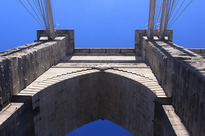 Detail of the Brooklyn Bridge