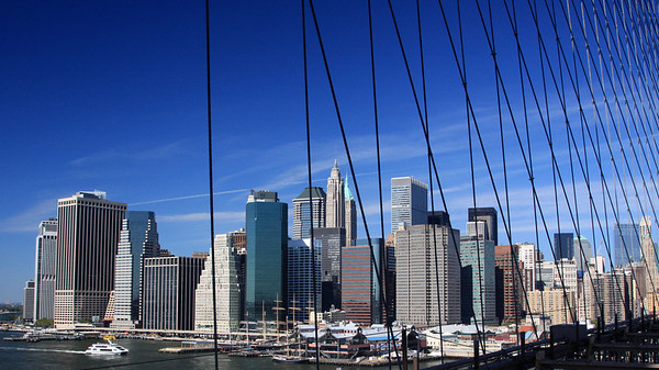 Lower Manhattan Seen from the Brooklyn Bridge