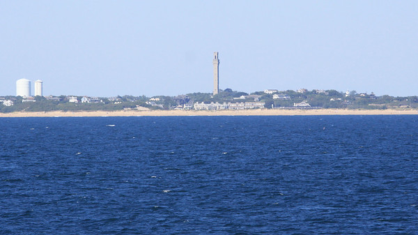 Scenic Cruising near Provincetown, MA The Pilgrim Memorial is seen in the distance. We had to cruise in this area for more than a day due to Hurricane Earl before heading to our final port of NYC.