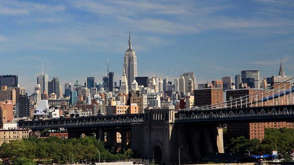 Midtown Manhattan and Manhattan Bridge