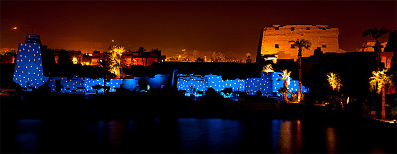 Sound and Light Show at Karnak Temple, Luxor<br /> <br /> For the last portion of the show, the audience is seated at an outdoor amphitheatre that overlooks Karnak's sacred lake.