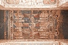 Medinet Habu<br /> <br /> Painting of vultures on the ceiling of an archway.
