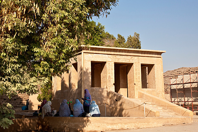 Senurset's  White Chapel. Karnak's open-air museum.<br /> <br /> The White Chaple was disassembled by Amenophis III, and its blocks used as filler for the building of Karnak's Third Pylon. Archeologists removed those blocks and reassembled the temple here in the open-air museum.