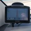På GPS'en ser vi bare vei og vann på vei mot Key West...
