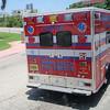 Brann/redningsbil ved enden av Miami Beach.