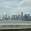 Downtown Miami sett fra highway A1A .