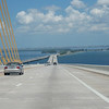 """Sunshine Skyway Bridge"", Tampa Bay, FL.<br /> St. Petersburg i bakgrunnen."