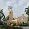 Coral Gables Congregational Church, rett ved Biltmore Hotel.