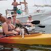 """Hunden """"Captain"""" er alltid med, til og med i kajakk :)"""