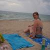 Flott å være på stranda selv om det er overskya når det er 30+ i lufta og 25+ i vannet.