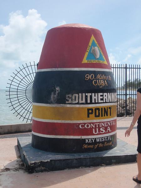 """Her er vi ved det sydligste punket (i hvert fall sånn ca) av """"det kontinentale USA"""", dvs ikke medregnet Hawaii. Her er det faktisk lenger til nærmeste WalMart enn det er til Cuba!"""
