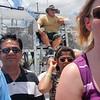 Det var plass til ca 25 personer på båten. Selve kapteinen sitter høyt hevet over alle andre.