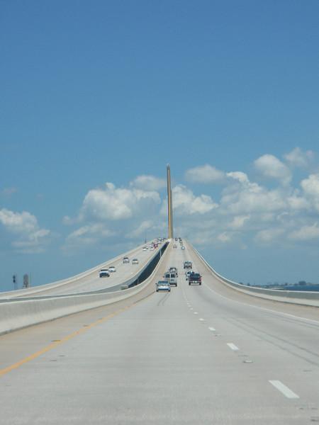 "Nordover på ""Sunshine Skyway Bridge"", Tampa Bay, FL."