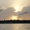 Fint lys i solnedgangen på Key West.