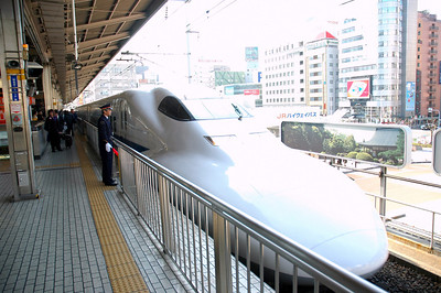 We took a second trip on the Shinkansen from Nagoya to Kyoto, a 30-minute ride.