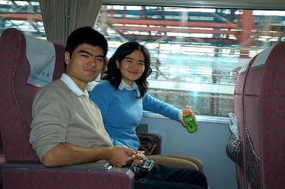 On the Kintetsu train to Ise.