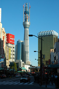 Tokyo's new tower, with construction nearly completed.